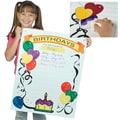 S&S® 22in. X 28in. Write-On Wipe-Off Poster, Happy Birthday