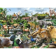 S&S® 26 X 19 300-PC Jigsaw Puzzle, What A Zoo