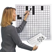 S&S® Laminated Blank Crossword Puzzle Grid