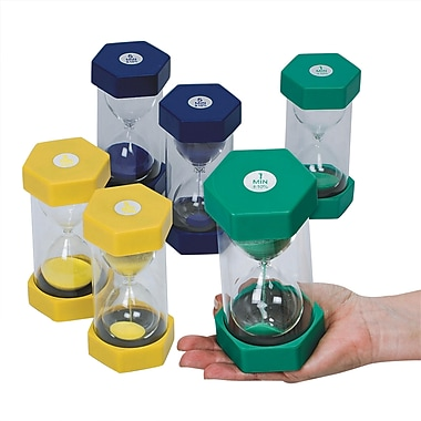 S&S® Small Plastic Sand Timer, 6/Set
