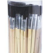 S&S® Bristle Brush Assortment Pack, Black, 72/Pack