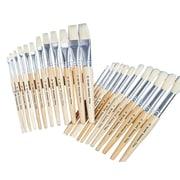 S&S® White Bristle School Brush, 24/Set