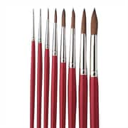 S&S® Red Sable Watercolor Round Brushes, 8/Set