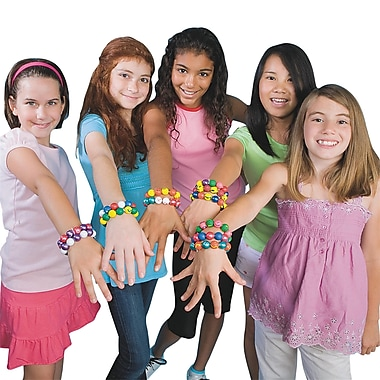 S&S® Color-Me Trading Bead Bracelets Kit, 144/Pack