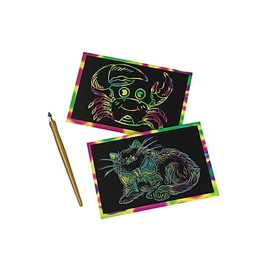 Craft EXpress 4in. X 6in. Scratch-A-Doodle® Rainbow Kit, 12/Pack