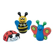 Craft Express Wooden Bee, Butterfly and Ladybug Craft Kit, 12/Pack