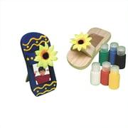 Craft Express Wood Sandal Frame Craft Kit, 12/Pack