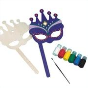 Craft Express Wood Mask Craft Kit, 12/Pack
