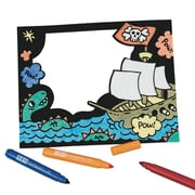 Craft Express Velvet Pirate Frame Craft Kit, 12/Pack