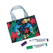 Craft Express Velvet Sea Life Totes Craft Kit, 12/Pack