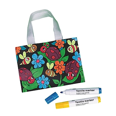 Craft Express Velvet Bug Tote Craft Kit, 12/Pack