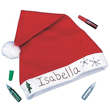 Craft EXpress Holiday Santa Hat Craft Kit, 12/Pack