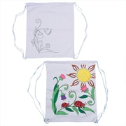 "S&S® Color-Me™ 12"" X 14"" Printed Flower Backpack"
