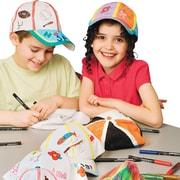 S&S FA3421 Color-Me Multicolor Baseball Caps, 12/Pack