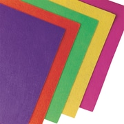"S&S FA3442 Assorted Neon Felt Sheet, 12"" x 9"", 50/Pack"