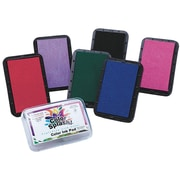 "Color Splash GA2793 Washable Color Ink Pads 3.5""L x 2.25""W, 12/Pack"