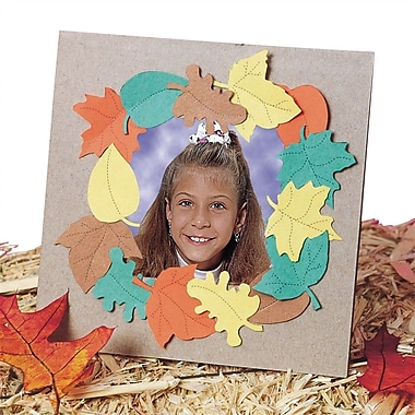Geeperz™ Falling Leaves Frame Craft Kit, 24/Pack