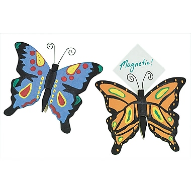 Educraft® Butterfly Clothespin Magnets Craft Kit, 12/Pack