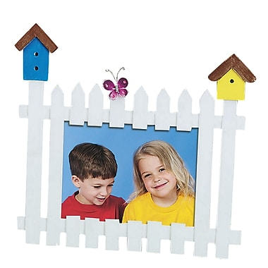 Geeperz™ Picket Fence Frame Craft Kit, 12/Pack