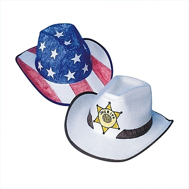 Geeperz™ Cowabunga Cowboy Hats Craft Kit, 12/Pack