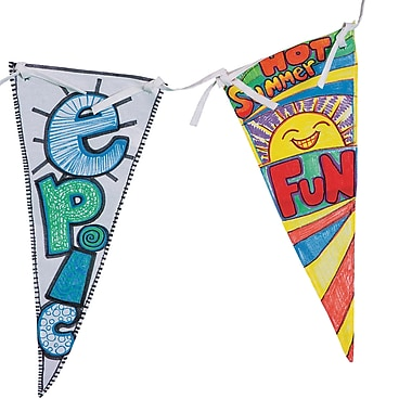 Geeperz™ Make Your Own Banner Craft Kit, 12/Pack
