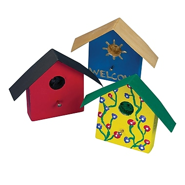 Geeperz™ Mini Birdhouse Magnet Craft Kit, 12/Pack
