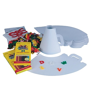 S&S® Color-Me™ Spirit Megaphone Craft Kit, 30/Pack