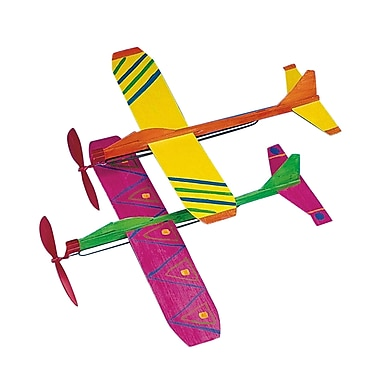 Geeperz™ Neon Propeller Planes Craft Kit, 12/Pack