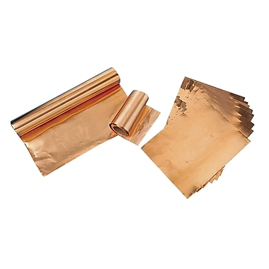 S&S® 4 1/2in. X 4 1/2in. Foil Sheets, Copper, 40/Pack