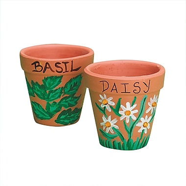 S&S® 2in. X 1 1/4in. X 2 1/4in. Mini Terra Cotta Pots