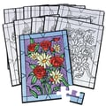 S&S® 14in. X 10in. Bouquet Puzzle, Velvet Art Flower