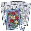 "S&S® 14"" X 10"" Bouquet Puzzle, Velvet Art Flower"