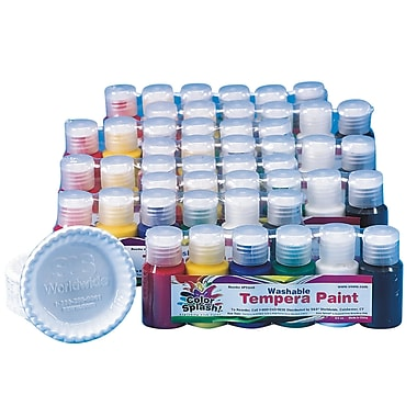 Color Splash® 3/4 oz. Washable Tempera Paint Pass Around Pack