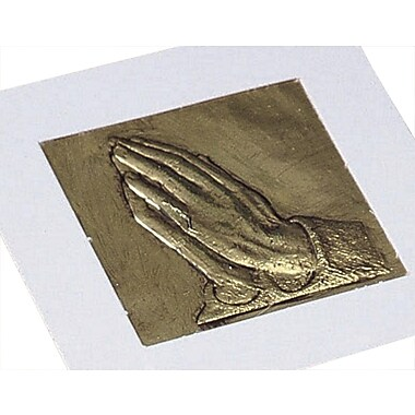 S&S® Praying Hands Raised Foil Plaque Craft Kit, 53/Pack