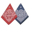 S&S® 21 1/2in. Western Bandanas, Red/Blue, 12/Pack
