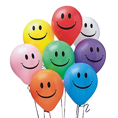 Pioneer® Balloon 11in. Smile Balloon, Assorted, 100/Pack