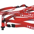 S&S® in.I Love Bingoin. LanYards, Red, 12/Pack