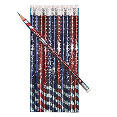 S&S® Pencil, Patriotic Burst, 144/Pack