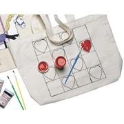 "S&S® 13"" X 11"" X 4"" Heart Preprinted Tote Bag"