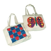 S&S® 13 X 11 X 4 Butterfly Preprinted Tote Bag