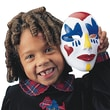 "Color-Me SY632 Multicolor Foam Face Mask, 6.38"" x 4.5"", 12/Pack"
