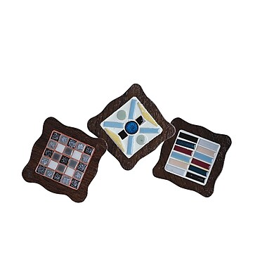 S&S® Wood Coaster Pack, 12/Pack
