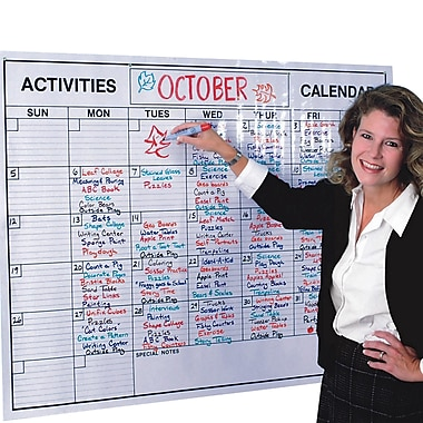 S&S® Laminated Jumbo Wall Calendar