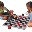 S&S® 28in. X 28in. Jumbo Checkers & Backgammon Game Rug