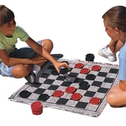 "S&S® 28"" X 28"" Jumbo Checkers & Backgammon Game Rug"
