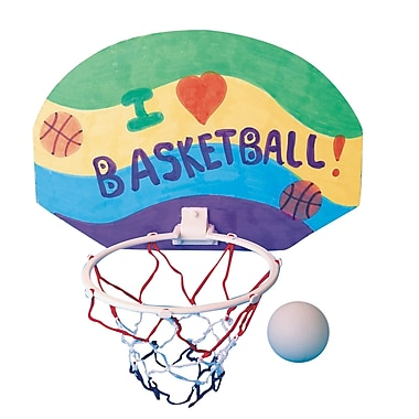 Color-Me™ 11in. X 7 1/2in. Basketball Hoop Craft Kit Without Markers, 12/Pack
