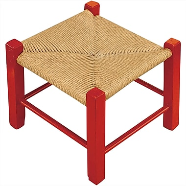 S&S® 9in.(H) X 10in.(W) X 10in.(D) Unfinished Fiber Rush Stool