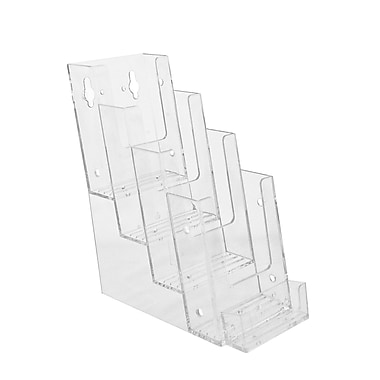 Acrylic Brochure Holders, 4 Tier Tri Fold Countertop