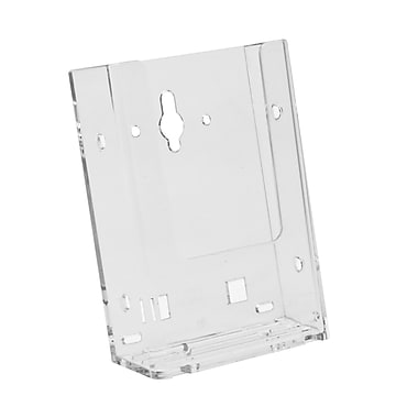 Acrylic Brochure Holders, Tri Fold Wall Mount Slatwall/Grid