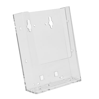 Acrylic Brochure Holders, Half Page Wall Mount Slatwall/Grid